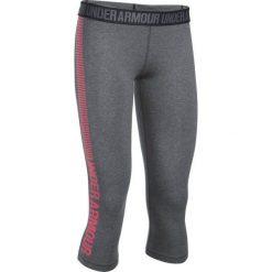 Under Armour Spodnie Fav Capri - Gra Blk S. Szare spodnie sportowe damskie marki Under Armour, s, na fitness i siłownię. W wyprzedaży za 139,00 zł.