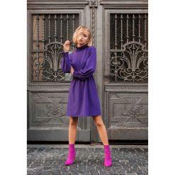 Fioletowa Sukienka  Forecast. Fioletowe sukienki hiszpanki other, l, mini. Za 79,99 zł.