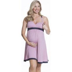 Koszula nocna dla ciężarnych i karmiących Gateau Pink. Szare bielizna ciążowa marki Astratex, w koronkowe wzory, z bawełny. Za 231,99 zł.