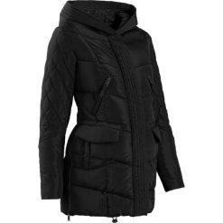 Płaszcz ciążowy pikowany z regulacją obwodu bonprix czarny. Czarne kurtki ciążowe bonprix. Za 239,99 zł.
