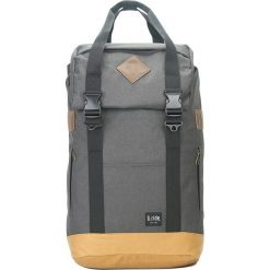 Plecaki męskie: Plecak w kolorze antracytowo-beżowym – 33 x 56 x 18 cm