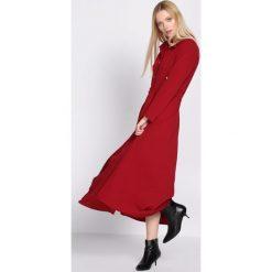 Sukienki: Bordowa Sukienka Tract