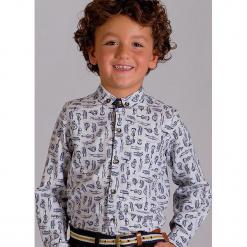 """Koszula """"Harrison"""" w kolorze biało-niebieskim. Białe koszule chłopięce Paglie, New G.O.L & more, z bawełny, button down. Za 102,95 zł."""