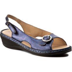 Rzymianki damskie: Sandały LA MARINE – Smyrna Shiny Blue Shiny Blue