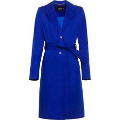 Płaszcz. Niebieskie płaszcze damskie pastelowe Simple, z bawełny. Za 359,90 zł.