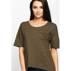 T-shirty damskie: Khaki T-shirt Daily