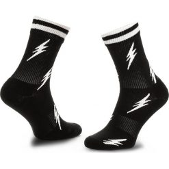 Skarpety Wysokie Unisex HAPPY SOCKS - ATFLA27-9001 Czarny. Czarne skarpetki męskie Happy Socks, z bawełny. Za 47,90 zł.