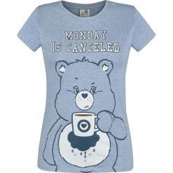 Troskliwe Misie Brummbärchi - Monday Is Canceled Koszulka damska jasnoniebieski melanż. Niebieskie bluzki z odkrytymi ramionami Troskliwe Misie, s, melanż, z okrągłym kołnierzem. Za 74,90 zł.