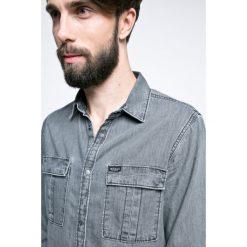 Guess Jeans - Koszula. Szare koszule męskie jeansowe marki Guess Jeans, l, z aplikacjami. W wyprzedaży za 199,90 zł.