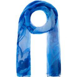 Apaszki damskie: Niebieska apaszka z kwiatowym wzorem QUIOSQUE