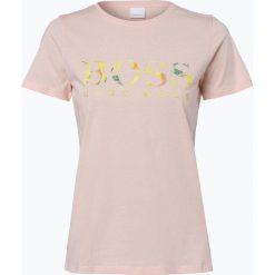 T-shirty damskie: BOSS Casual – T-shirt damski – Tiboss, różowy