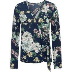 Bluzki damskie: Bluzka w kwiatowy wzór bonprix ciemnoniebieski z nadrukiem