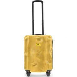Walizka Stripe kabinowa Mustard Yellow. Szare walizki marki Crash Baggage, z materiału. Za 1049,00 zł.