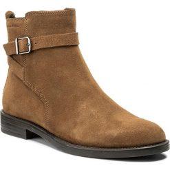 Botki VAGABOND - Amina 4403-040-04 Cinnamon. Brązowe buty zimowe damskie marki Vagabond, z materiału, na obcasie. W wyprzedaży za 319,00 zł.