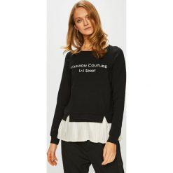 Liu Jo - Bluza. Czarne bluzy z nadrukiem damskie Liu Jo, l, z bawełny, bez kaptura. Za 579,90 zł.