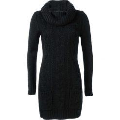 Sukienki dzianinowe: Sukienka dzianinowa bonprix czarny