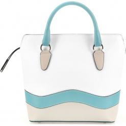 Torebka damska 84-4E-011-0. Białe torebki klasyczne damskie Wittchen, w paski, zdobione. Za 419,00 zł.