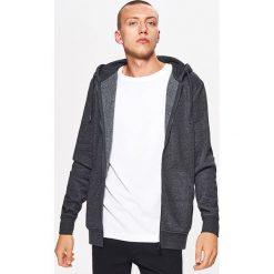Zapinana bluza BASIC z kapturem - Szary. Czarne bluzy męskie rozpinane marki Reserved, l, z kapturem. Za 89,99 zł.