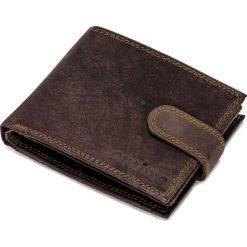 PORTFEL MĘSKI SKÓRZANY A087 - BRĄZOWY. Brązowe portfele męskie Ombre Clothing. Za 59,00 zł.