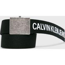 Calvin Klein - Pasek. Szare paski męskie marki Calvin Klein, w paski, z materiału. Za 179,90 zł.