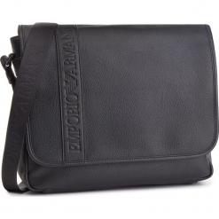 Torba na laptopa EMPORIO ARMANI - Y4M173 YG89J 81072 Black. Szare torby na laptopa marki Emporio Armani, l, z nadrukiem, z bawełny, z okrągłym kołnierzem. Za 1069,00 zł.
