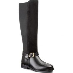 Oficerki GANT - Avery 11581686 Black G00. Czarne buty zimowe damskie GANT, z materiału, na obcasie. W wyprzedaży za 499,00 zł.