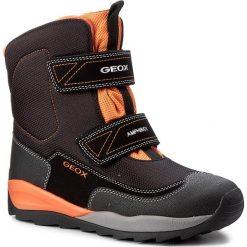 Buty zimowe chłopięce: Śniegowce GEOX – J Orizont B B. Abx F J740BF 01150 C0038 D Black/Orange