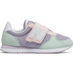 New Balance KV220P1Y. Szare buty sportowe dziewczęce marki New Balance, na lato, z materiału. W wyprzedaży za 129,99 zł.