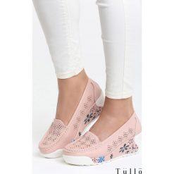 Buty ślubne damskie: Różowe Koturny Sweet Girl