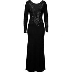Sukienka bonprix czarny. Czarne sukienki z falbanami marki bonprix. Za 239,99 zł.