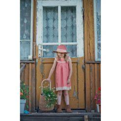 Sukienka Miss Style. Białe sukienki dziewczęce marki Pakamera, w koronkowe wzory, z jersey. Za 135,00 zł.