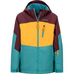 """Kurtka narciarska """"Elise"""" w kolorze brązowo-turkusowo-żółtym. Brązowe kurtki dziewczęce przeciwdeszczowe Marmot Kids, z materiału. W wyprzedaży za 302,95 zł."""