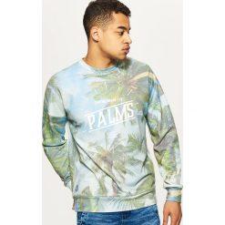 Odzież męska: Bluza z nadrukiem all over - Niebieski