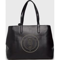 Versace Jeans - Torebka. Czarne shopper bag damskie Versace Jeans, z jeansu, do ręki, duże. Za 699,90 zł.