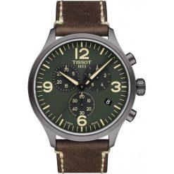 PROMOCJA ZEGAREK TISSOT Chrono XL T116.617.36.097.00. Zielone zegarki męskie TISSOT, ze stali. W wyprzedaży za 1232,00 zł.