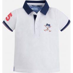 Mayoral - T-shirt dziecięcy 92-134 cm. Szare t-shirty chłopięce Mayoral, z bawełny, polo. Za 99,90 zł.