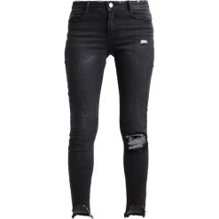 Missguided ANARCHY STEPPED Jeans Skinny Fit black. Czarne jeansy damskie marki Missguided, z bawełny. Za 169,00 zł.