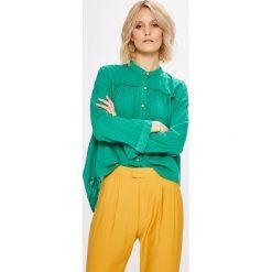 Answear - Koszula. Pomarańczowe koszule wiązane damskie ANSWEAR, m, z bawełny, casualowe, z długim rękawem. W wyprzedaży za 69,90 zł.