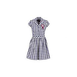 Sukienki krótkie Love Moschino  WVF3001. Niebieskie sukienki mini marki Love Moschino, z krótkim rękawem. Za 1231,20 zł.