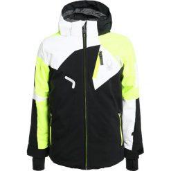 Spyder LEADER Kurtka narciarska black/bryte yellow/white. Czarne kurtki chłopięce sportowe Spyder, z materiału, narciarskie. W wyprzedaży za 743,20 zł.