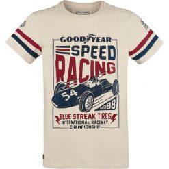 T-shirty męskie z nadrukiem: GoodYear Speed Racing T-Shirt beżowy