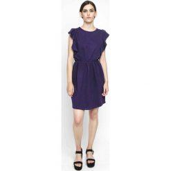 Sukienki hiszpanki: Krótka, gładka sukienka z krótkim rękawem