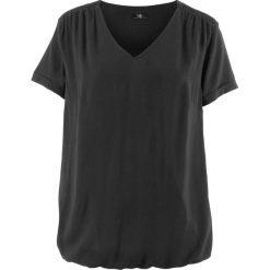 Bluzka, krótki rękaw bonprix czarny. Czarne bluzki damskie bonprix, z krótkim rękawem. Za 54,99 zł.