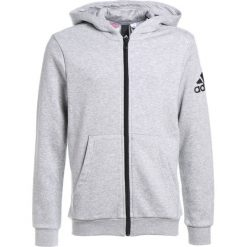Bluzy chłopięce: adidas Performance LOGO HOOD Bluza rozpinana medium grey heather/black
