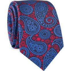 Krawat jedwabny KWWR000311. Białe krawaty męskie Giacomo Conti, z jedwabiu, eleganckie. Za 129,00 zł.