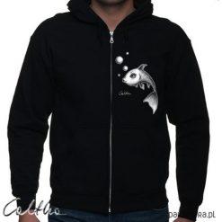 Ryba - bluza rozpinana unisex. Czarne bluzy męskie rozpinane marki Pakamera, m, z kapturem. Za 149,00 zł.
