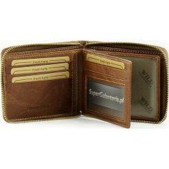 Portfel męski skórzany na suwak WILD. Czarne portfele męskie marki Bag Street, ze skóry. Za 59,00 zł.