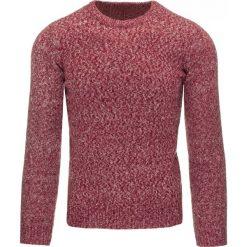 Swetry klasyczne męskie: Sweter męski bordowy (wx0787)