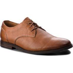 Półbuty CLARKS - Glide Lace 261354327 Tan Leather. Brązowe półbuty skórzane męskie Clarks. W wyprzedaży za 279,00 zł.