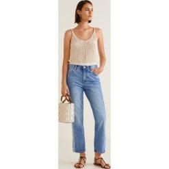 Mango - Jeansy Straight. Niebieskie proste jeansy damskie Mango. Za 139,90 zł.